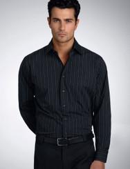 John Kevin Mens Long Sleeve Fine Stripe