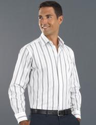 John Kevin Mens Long Sleeve Euro Stripe