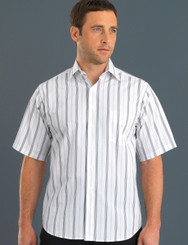 John Kevin Mens Short Sleeve Euro Stripe