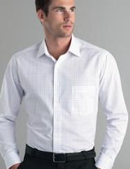 John Kevin Mens Long Sleeve Window Check Shirt