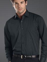 John Kevin Mens Long Sleeve Dark Stripe Shirt