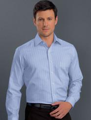 John Kevin Mens Long Sleeve Oxford Stripe Shirt