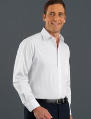 John Kevin Mens Long Sleeve Self Patterned Check Shirt