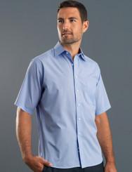 John Kevin Mens Short Sleeve Soft Stripe Shirt
