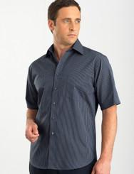 John Kevin Mens Short Sleeve Contrast Stripe Shirt