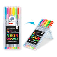 Triplus coloring pens Neon ballpoint pens, 0.3 mm, metal Clad, 6 point