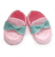 pink mint bow baby girl shoes