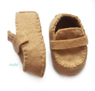 tan baby shoes moccasins