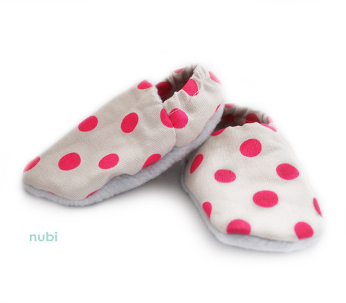 pink polkadot baby shoes soft sole