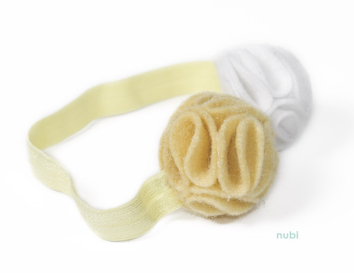 yellow white flower headband