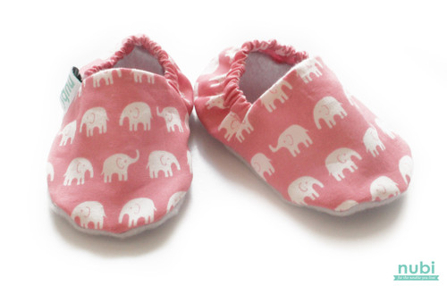 pink elephant baby shoes