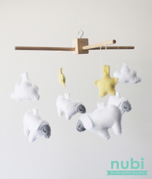 sheep baby mobile