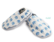 blue elephant patterned baby shoes