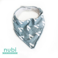 grey patterned bandana dribble bib
