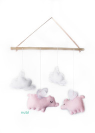 flying pig baby mobile
