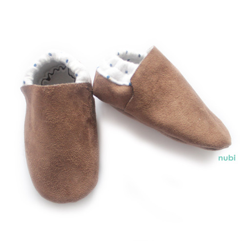 brown suede baby shoes