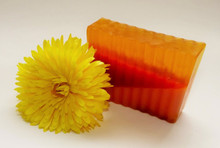 Calendula Soap Slice
