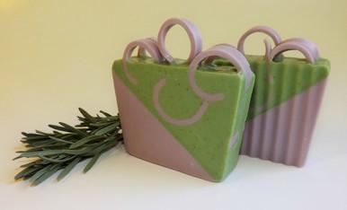 Luxurious Lavender Soap Slice