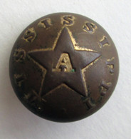 Rare Civil War Confederate Mississippi Artillery Button (SOLD)