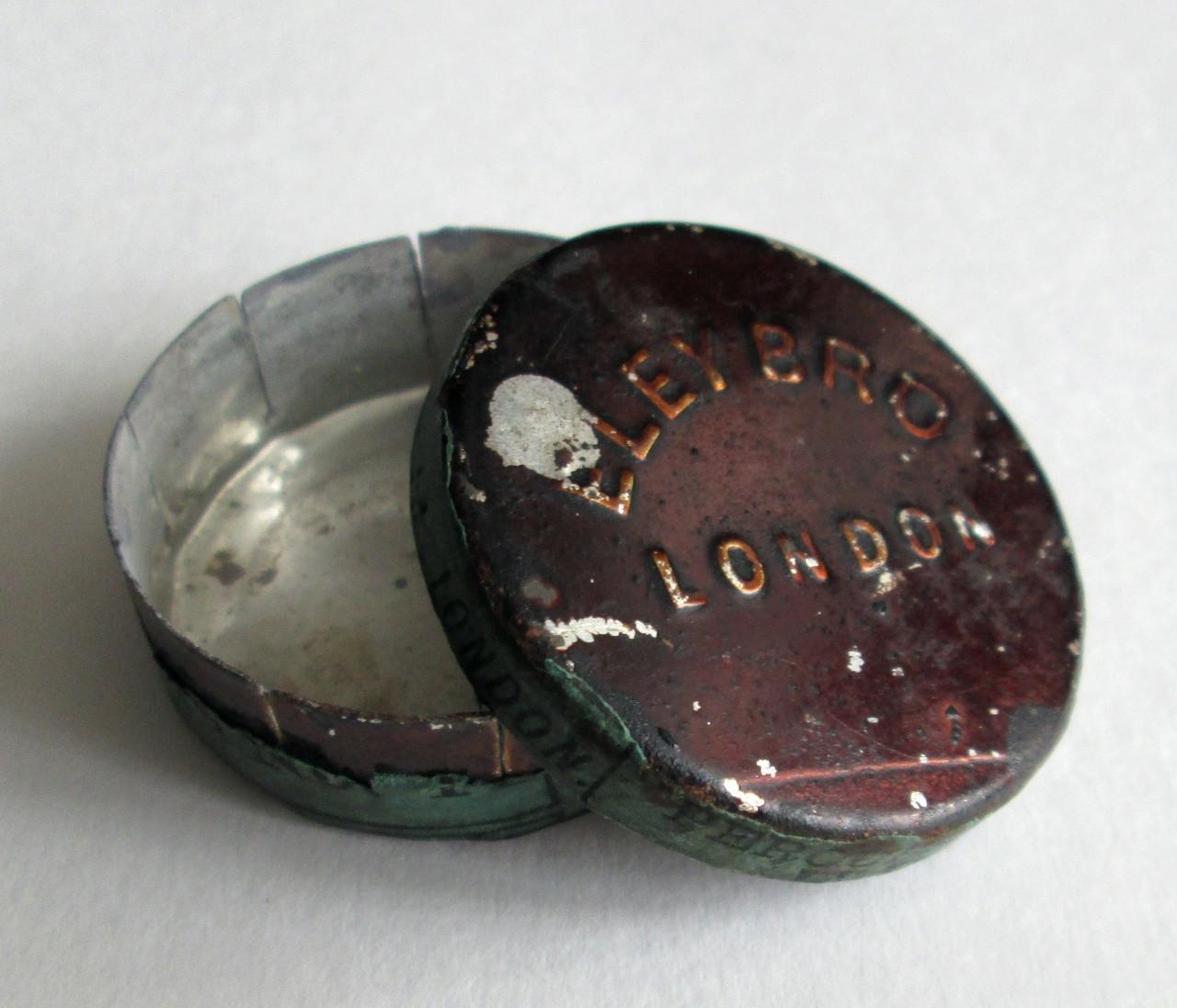 Civil War Percussion Cap Tin, As In VA Historical Society
