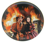 "Numbered ""Gone With the Wind"" collector plate ""The Burning of Atlanta"""