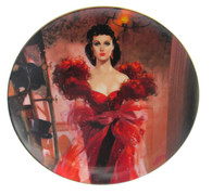 "Numbered ""Gone With the Wind"" collector plate ""Scarlett's Resolve"""
