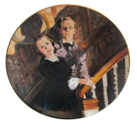 "Numbered ""Gone With the Wind"" collector plate ""Melanie and Ashley"""