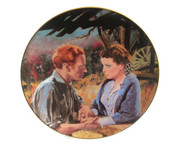 "Numbered ""Gone With the Wind"" collector plate ""Scarlett and Ashley After the War"""