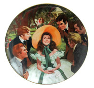 "Numbered ""Gone With the Wind"" collector plate ""Scarlett and Her Suitors"""