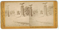 Stereocard of National Cemetery at Gettysburg by Tipton