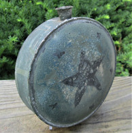 Rare Early 19th century painted Militia Canteen
