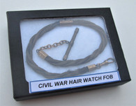 Civil War Hair Watch fob/vest chain w/gold fittings