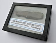 "Rare maker-marked pocketknife, dug at the ""Crater"""