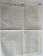 The New York Tribune newspaper, Sept. 23, 1862, Battle of Antietam