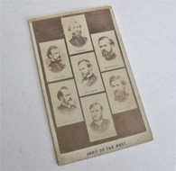 """Civil War CDV titled """"Army of the West"""""""