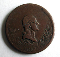 "Civil War Patriotic Token dated ""1863"""