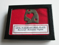 Soldiers Brass Heart Heel Plate