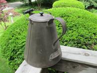 Large Tin Camp Coffee Pot