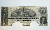 "Confederate $20.00 Bill, ""COC"""