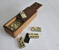 Cased set of original Civil War soldier's dominos