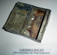 "Cartridge Box Tin ""struck"" (SOLD)"