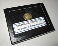RARE! Civil War Wisconsin Button recovered in Maryland