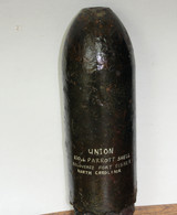 Very Rare! Civil War Union 100-pounder Parrott Artillery Shell from Fort Fisher, NC