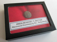 "Civil War Infantry ""I"" Button recovered at Gettysburg"