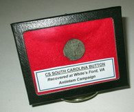 Confederate South Carolina Button recovered from the Antietam Campaign