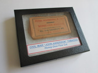 "Original Civil War unopened pack of tobacco dated ""1864"", identical in Gettysburg Museum"