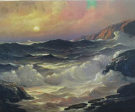 Seascape by Listed Illinois Artist, Leonard Rodowicz