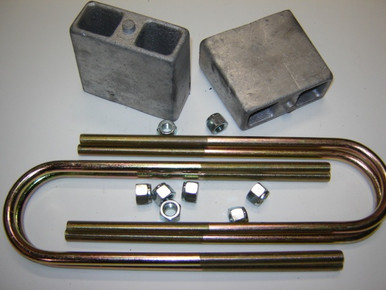 """Rear 4"""" drop lowering block kit for all cars with 2"""" wide spring"""