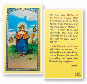 St. Nino of Atocha Laminated Holy Card