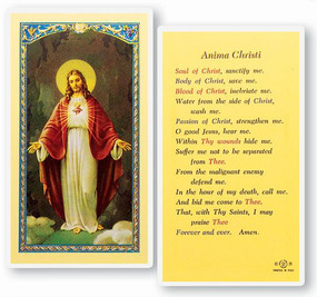 Anima Christi Laminated Holy Card